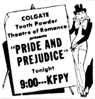 August 29, 1944 - Pride and Prejudice on KFPY